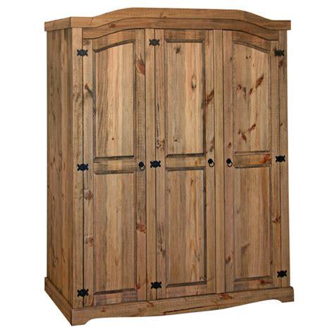 Mexican Pine 3 Door Wardrobe by Corona 3 Door Wardrobe Arched Waxed Mexican Solid