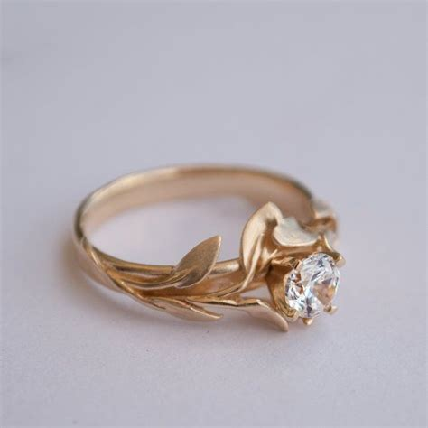 17 best ideas about leaf engagement ring on