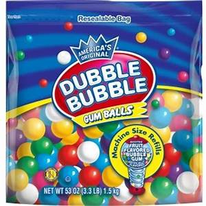 Gumballs - 1/2 Inch - Gumball Refill by Dubble Bubble 53oz