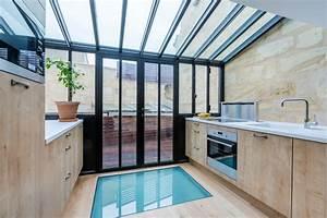 extension sur terrasse et renovation d39une echoppe With agrandissement cuisine sur terrasse