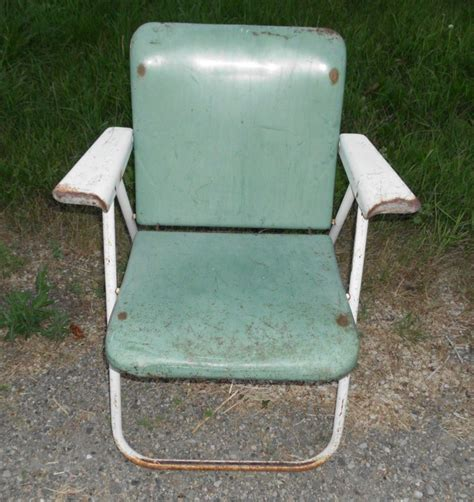 Samsonite Folding Chairs Vintage by Antique Vintage Heavy Metal Folding Lawn Patio Chair