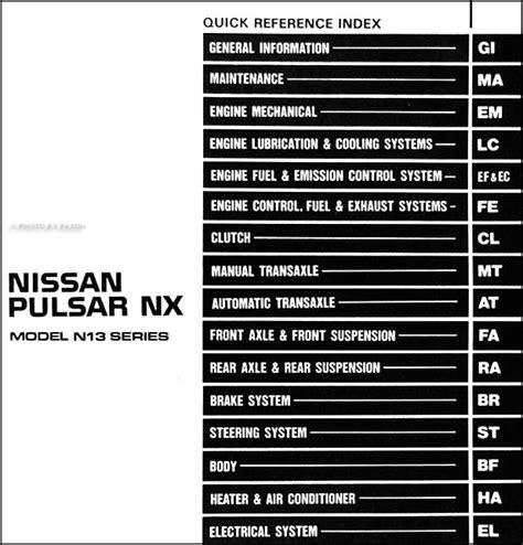 nissan pulsar 1999 radio wiring diagram wiring diagram