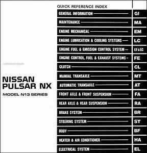 Nissan Pulsar 2001 Radio Wiring Diagram
