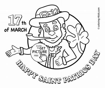 Coloring March Pages Printable Happy Saint Patric