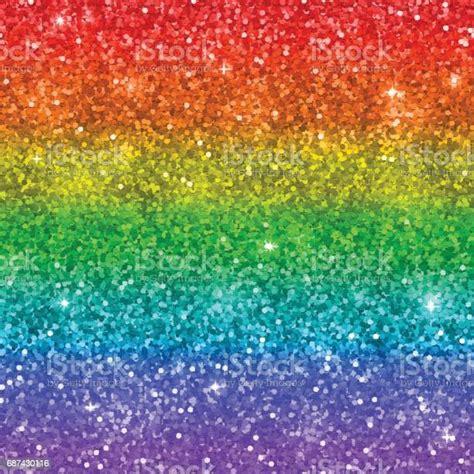 Multicolor Rainbow Glitter Background Vector Stock ...