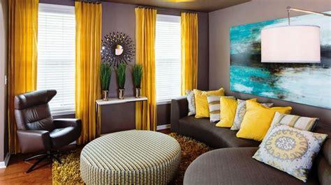 livingroom interiors lovely gray and yellow interior design ideas
