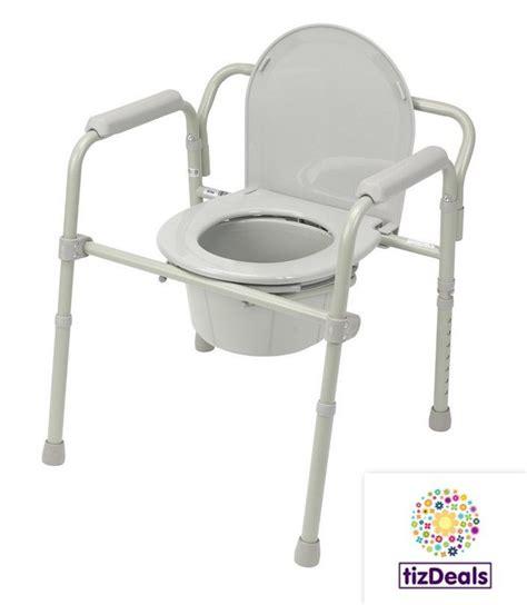 the folding potty seat bedside commode steel portable folding toilet lid potty