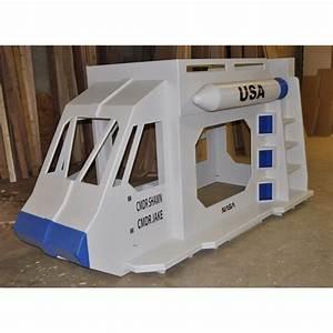 Space Shuttle Bunk Bed - Indoor playhouse, bunk bed, loft ...