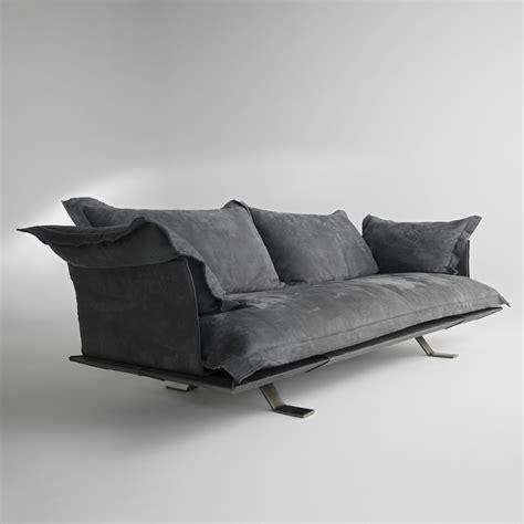 Divano Moderno In Pelle - divano design moderno in pelle shita 170 220 oppure 250 cm
