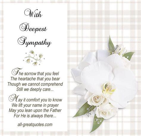 deepest sympathy sympathy wishes sympathy card messages deepest sympathy