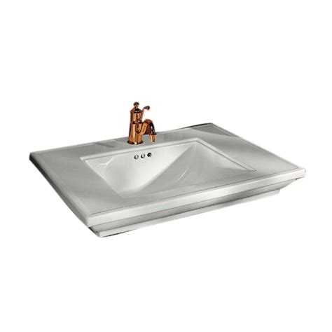 kohler memoirs 5 in cermaic pedestal sink basin in