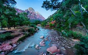 river zion national park united states of utah