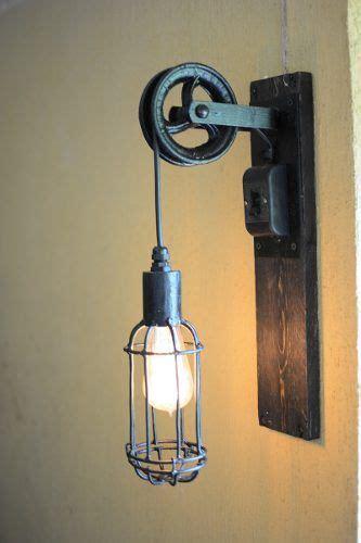 lampara de diseno jaula polea hierro estilo vintage deco