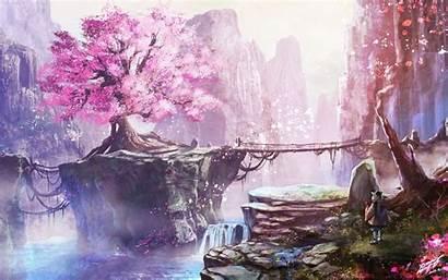 Anime Blossom Cherry Tree Wallpapers 4k Desktop