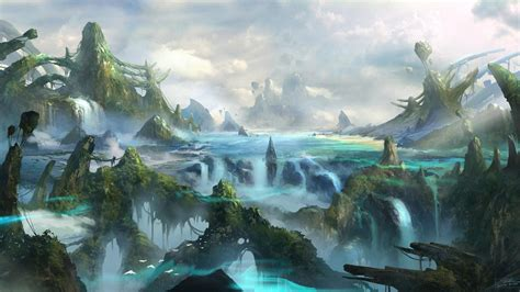 awesome background pictures fantasy landscape  ultra