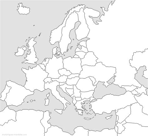 Carte Du Monde Noir Et Blanc à Imprimer by Carte Vierge D Europe 224 Imprimer The Best Cart