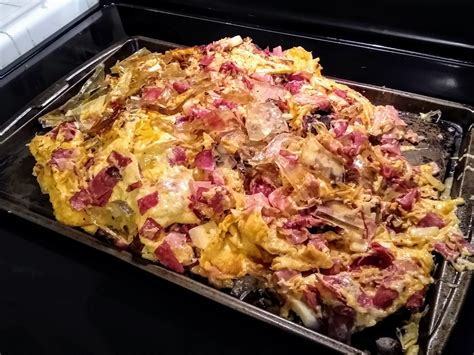 reuben dish appetit stove scooped onto bon baking casserole exploded sheet then after comments water