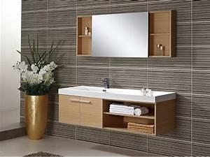 Meuble Salle De Bain Bois Et Blanc : ensemble marceau meuble de salle de bain d cor bois clair ~ Teatrodelosmanantiales.com Idées de Décoration