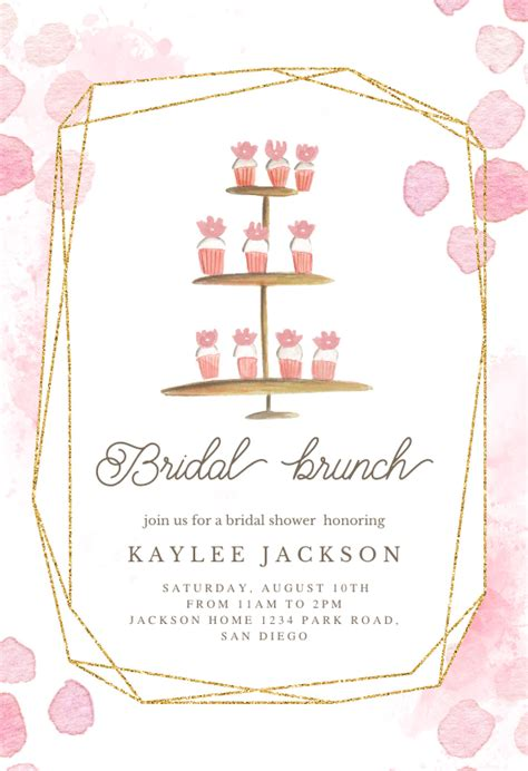 ladies brunch bridal shower invitation template