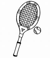 Tennis Coloring Printable Pages Racket Getcoloringpages sketch template