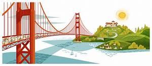 Golden Gate Bridge Vector Illustrator File At Getdrawings