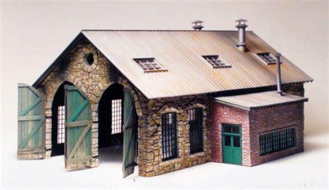 double stall engine house model built   richard