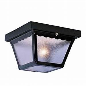 Filament design lenor 2 light black fluorescent ceiling for Flush mount ceiling fans with lights home depot