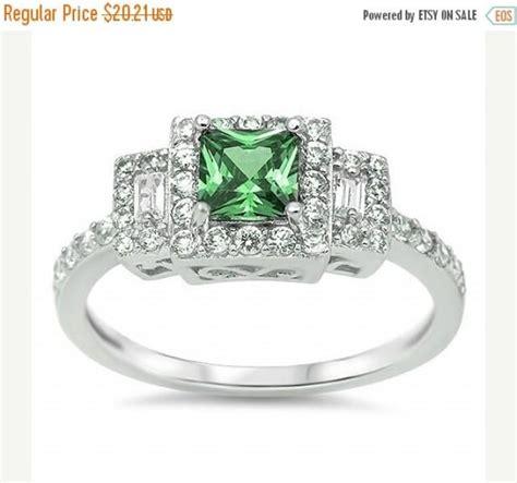 sterling silver 2 50 ct princess cut emerald green radiant cut pave russian cz halo three
