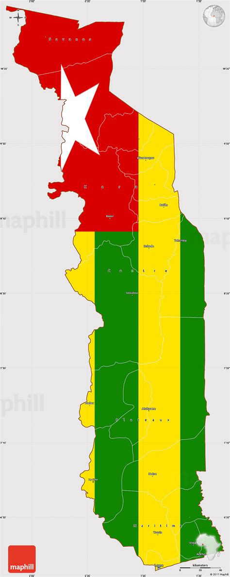 flag simple map  togo flag rotated