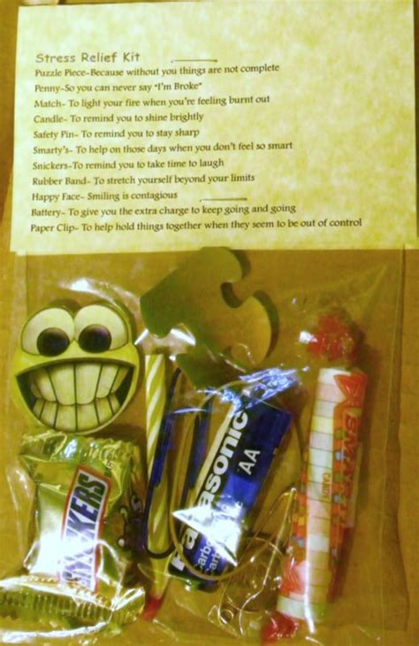 stress relief kit  items  novelty gift