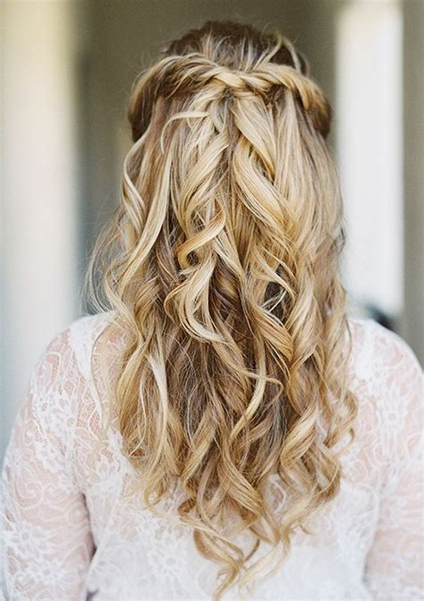 40 stunning half up half wedding hairstyles with tutorial wedding deer and flower