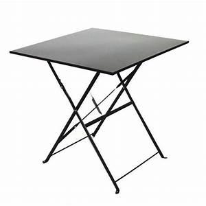 Table Pliante Noire : table de jardin pliante camarque 70x70 cm noir achat ~ Teatrodelosmanantiales.com Idées de Décoration