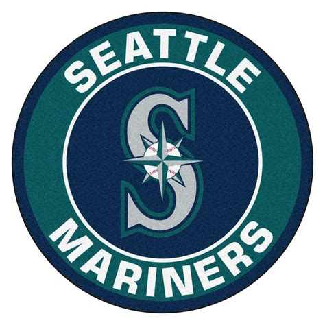 fanmats mlb seattle mariners green 2 ft x 2 ft round area rug 18150 the home depot