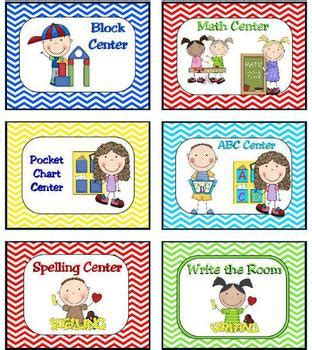 learning center signs and labels chevron print by 443 | original 703191 1