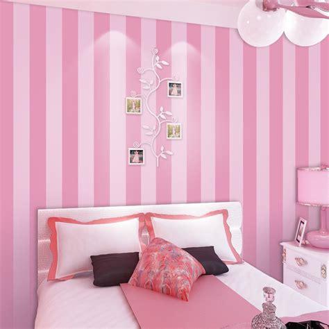 pink wallpaper for bedroom aliexpress com buy non woven striped wallpaper roll pink 16758   Non woven Striped Wallpaper Roll Pink Princess Children Room Wall Decoration Wallpaper For Kids Room Girls