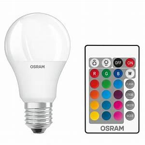 Ampoule Led E14 60w : osram ampoule led retrofit rgbw standard t l commande e27 9w 60w a ampoule led osram sur ~ Melissatoandfro.com Idées de Décoration