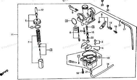 Honda Carb Diagram Cleaning by Honda Atv 1981 Oem Parts Diagram For Carburetor