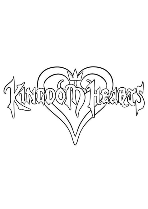 25 Interesting Kingdom Hearts Coloring Pages For Your Little Ones | Heart coloring pages
