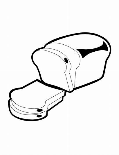 Bread Coloring Loaf Pages Colouring Clipart Drawing