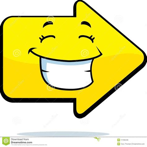 arrow smiling royalty  stock images image