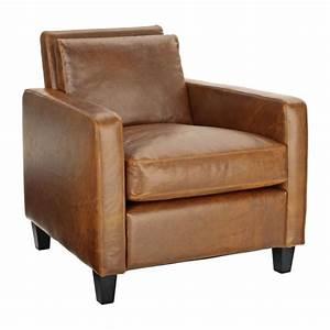 Fauteuil Crapaud Cuir : chester fauteuil en cuir marron habitat ~ Teatrodelosmanantiales.com Idées de Décoration