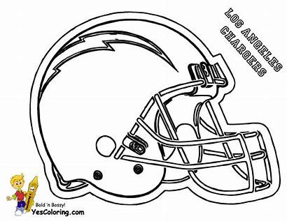 Coloring Football Pages Helmet Chargers Nfl Diego