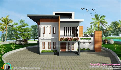 home designs 2717 square contemporary style home kerala home