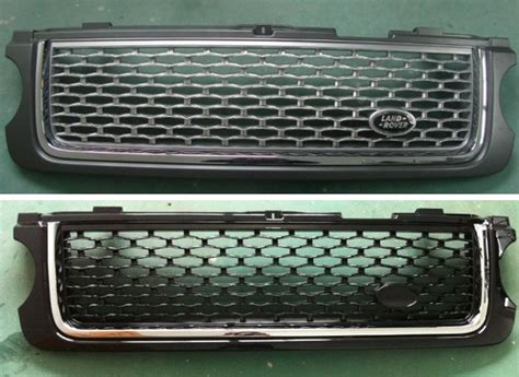 Black Chrome Auto Front Grille For Range Rover Sport 2006
