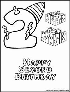 Second Birthday Coloring Page