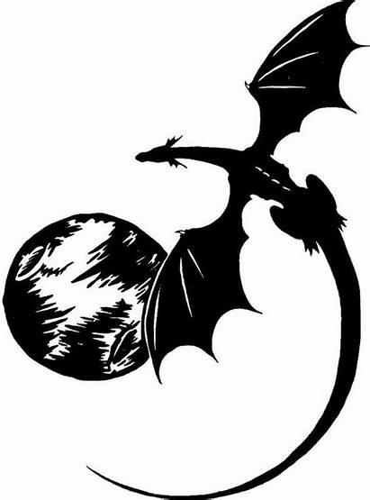 Tattoo Moon Designs Dragon Silhouette Flying Dragons