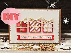 Weihnachtsgeschenke Selbst Basteln : weihnachtskarten selber basteln 5 weihnachtsgeschenke christmas card diy youtube ~ Eleganceandgraceweddings.com Haus und Dekorationen