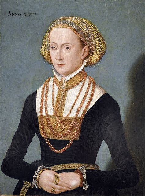 Portrait Of Lady 16th Century German And Portraits