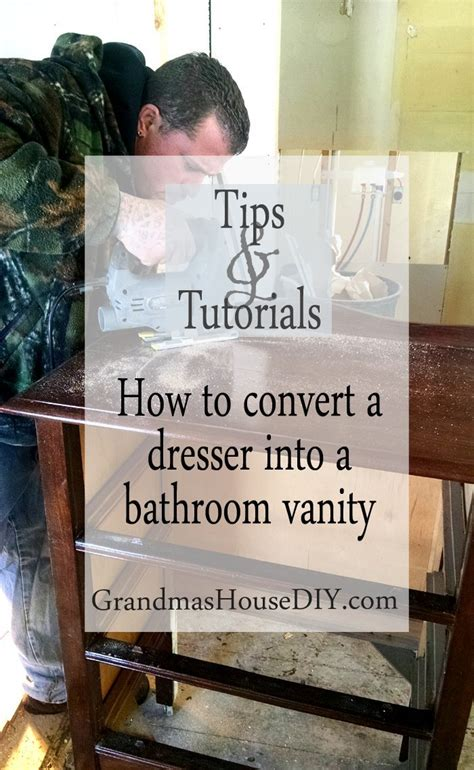 Rid Yourself Of Vanity And Just Go With The Seasons - how to convert a dresser into a bathroom vanity for a