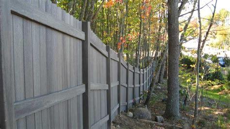 fiberon fence weatheredpine gallery scandi garden
